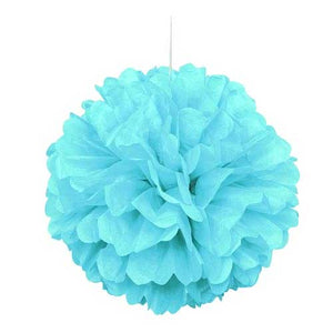 "16"" Powder Blue Tissue Paper Decor Puff Ball"