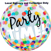 Party Time Colourful Dots Bubble Balloon