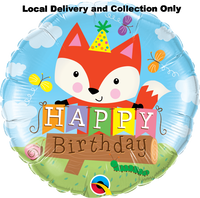 Birthday Party Fox Foil Balloon