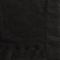 Midnight Black 2ply Luncheon Napkins