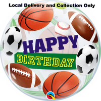 Birthday Sport Balls Bubble Balloon
