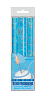 Blue Ice Fountain Candles pk3
