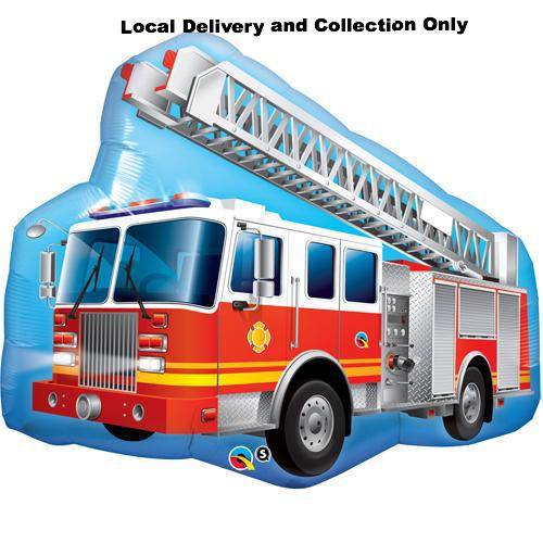 Red Fire Engine Supershape Foil Balloon