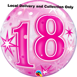18 Pink Starburst Sparkle Bubble Balloon