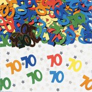 70th  Multi Colour Metalic Confetti (14g)