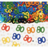80th Multi Colour Metalic Confetti (14g)