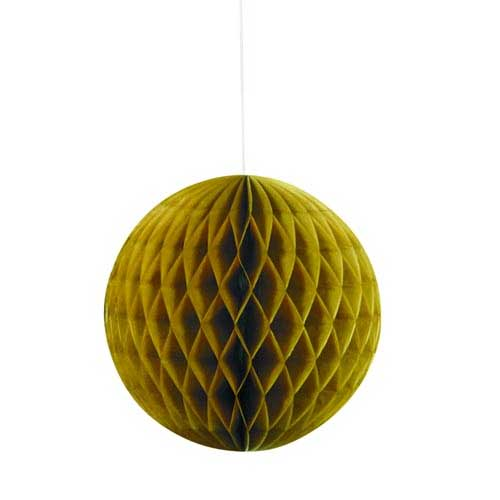 "8"" Gold Honeycomb Tissue Paper Ball"