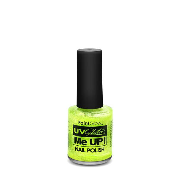 UV Neon Glitter Nail Varnish Mint Green