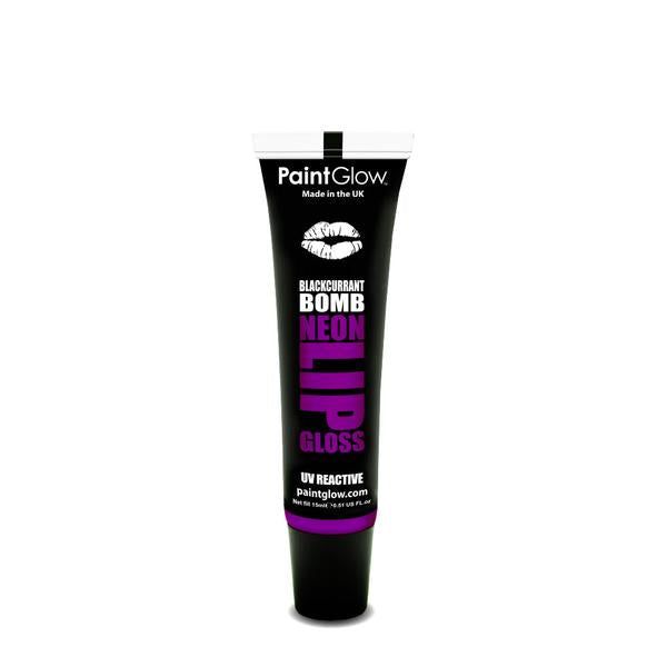 Neon UV Lip Gloss Blackcurrant Bomb