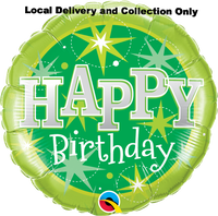 Birthday Green Sparkle Foil Balloon