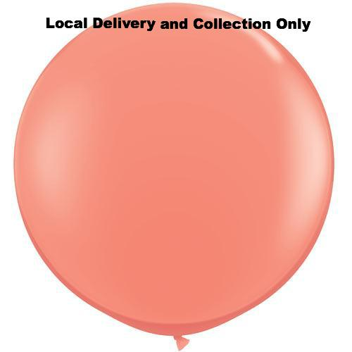 3' Coral Latex Balloon