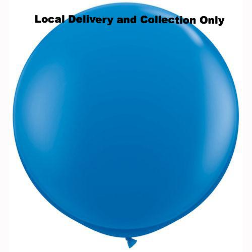 3' Dark Blue Latex Balloon