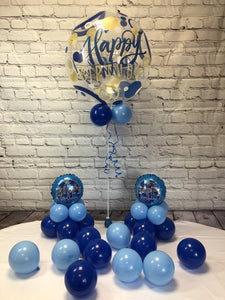 Blue Happy Birthday Package - WoW Balloons Direct