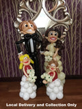 Deluxe Bride, Groom and Small Bridesmaids Figures