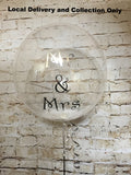"24"" Clear Bubble with Feathers and Vinyl Text"