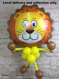 Large animal head with a balloon body - Lion