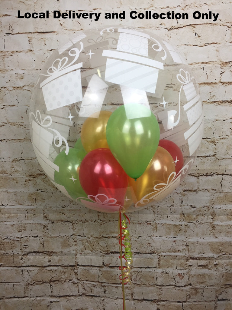 "24"" Presents Deco Bubble With Small Balloons Inside"