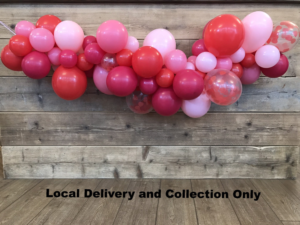 Organic Balloon Swag (Inflated) - Valentines Theme 2 Meter Length