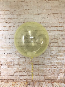 "18"" Crystal Clearz Balloon - Yellow"