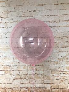 "18"" Crystal Clearz Balloon - Light Pink"