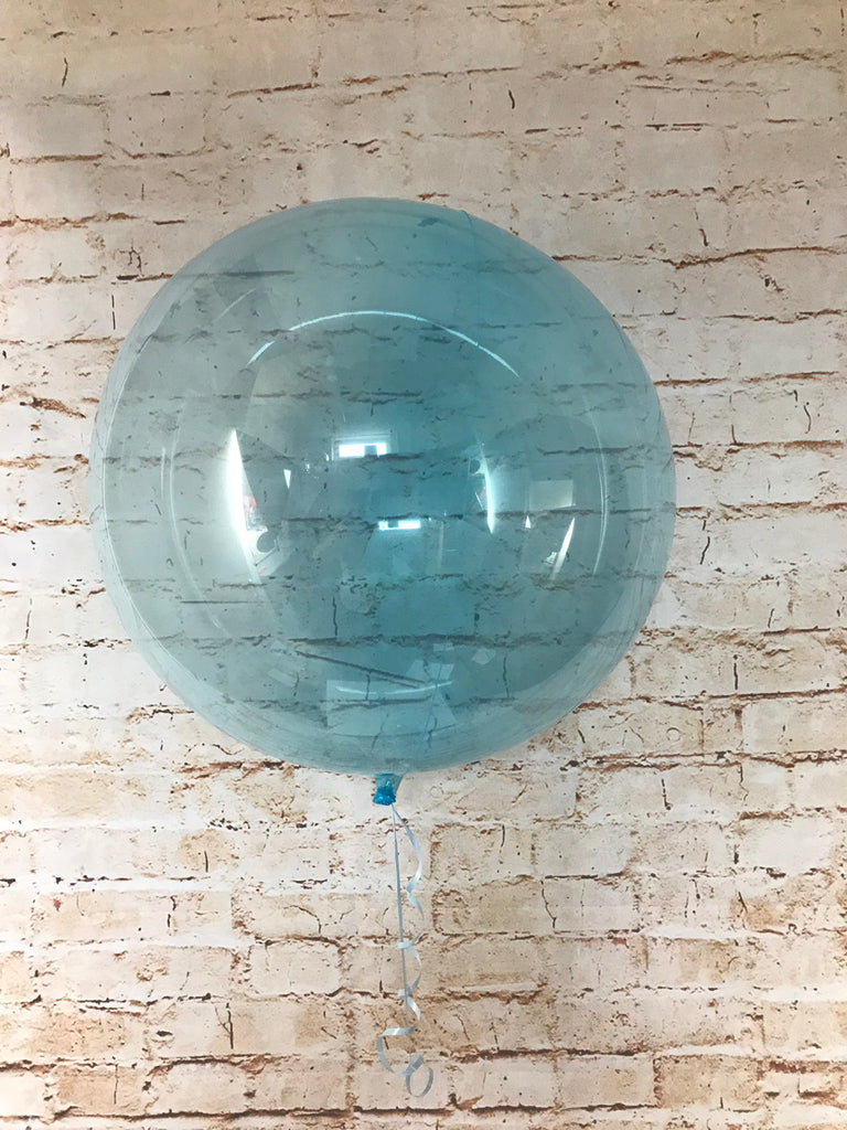 "18"" Crystal Clearz Balloon - Blue"
