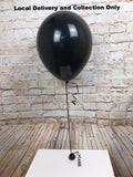 "16"" Gender Reveal Black Latex Balloon"