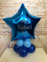 Father's Day Themed Foil Balloon Centrepiece