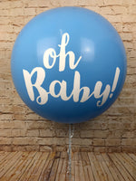 3' Blue Oh Baby Print Giant Balloon