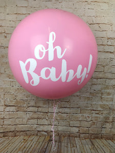 3' Pink Oh Baby Print Giant Balloon