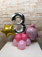 Single Number Character Age Display - Playful Pig