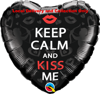 Keep Calm and Kiss Me Foil Balloon
