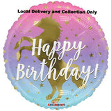 "18"" Birthday Ombre Unicorn Foil Balloon"