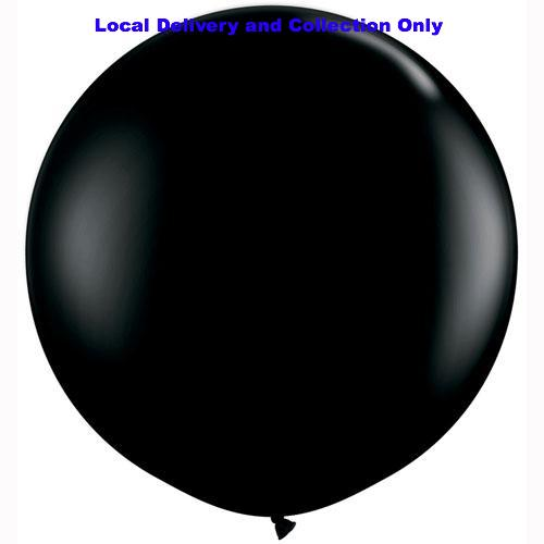 3' Black Latex Balloon