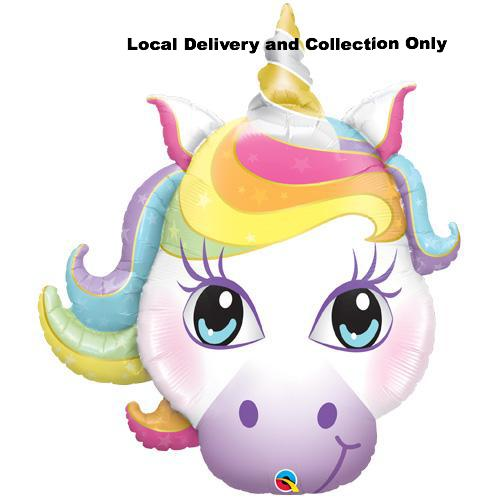 Pastel Magical Unicorn Head Supershape Foil Balloon