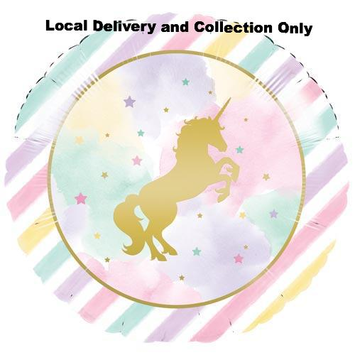 "18"" Pastel Unicorn Foil Balloon"