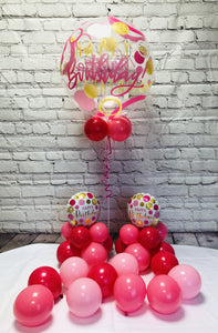 Pink Happy Birthday Package - WoW Balloons Direct