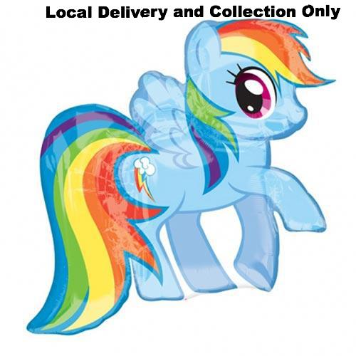 "28"" My Little Pony Rainbow Dash Supershape Foil Balloon"