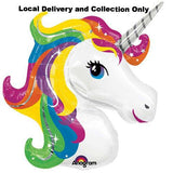 "33"" Rainbow Unicorn Supershape Foil Balloon"