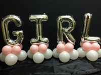Girl Letters Balloon Decoration