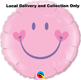 "18"" Sweet Smile Face Pink Foil Balloon"