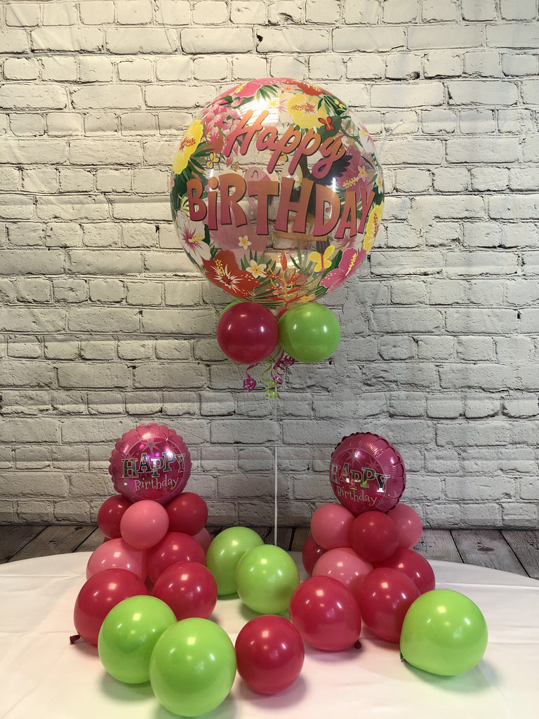 Tropical Happy Birthday Package - WoW Balloons Direct