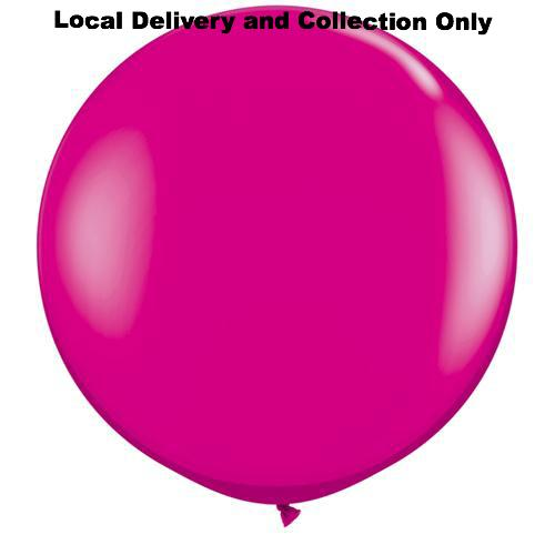 3' Wild Berry Pink Latex Balloon