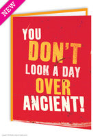 Day over ancient funny birthday greeting card