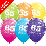 "11"" 65-A-Round Tropical Assortment Latex Balloons (6 Pack)"