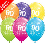 "11"" 90-A-Round Tropical Assortment Latex Balloons (6 Pack)"