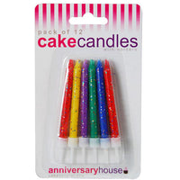 Multicoloured Glitter Candle (Pack of 12)