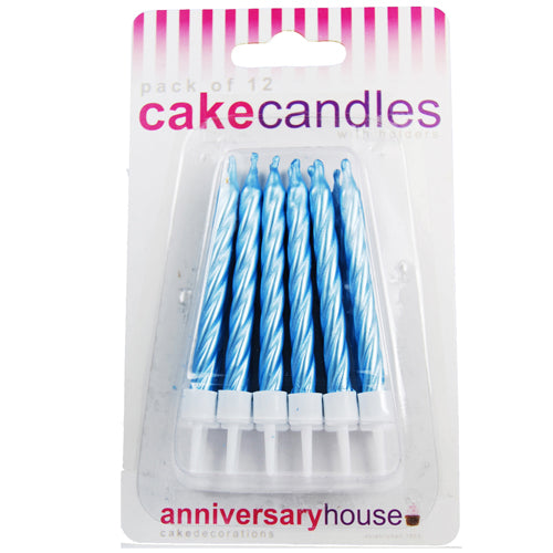 Pearlescent Blue Candle (Pack of 12)