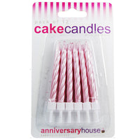 Pearlescent Pink Candle (Pack of 12)