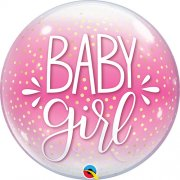 Baby Girl Pink Dots Bubble Balloon