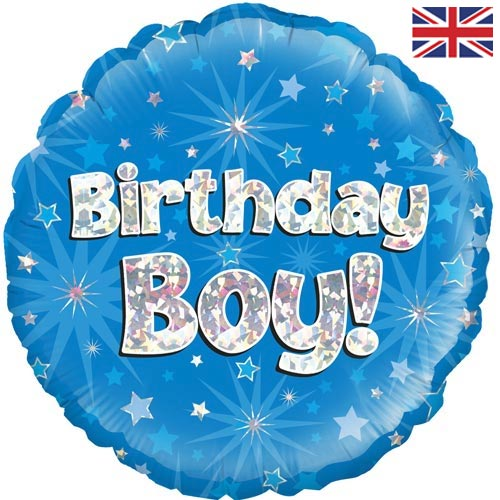 "18"" Birthday Boy Blue Foil Balloon"